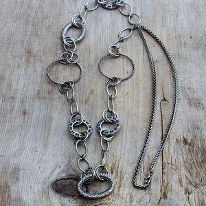 VTG Long Multi-Circle Chunky Necklace